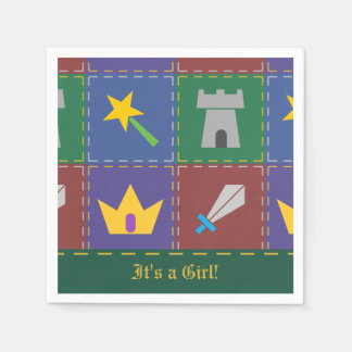 A Wee One's Fantasy Quilt Baby Shower Napkins