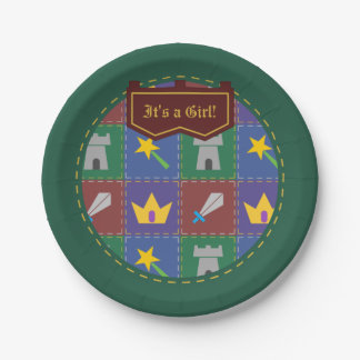 A Wee One's Fantasy Quilt Baby Shower Paper Plates