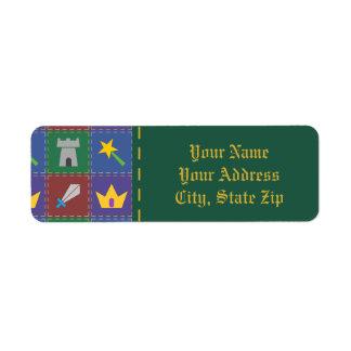 A Wee One's Fantasy Quilt Return Address Label