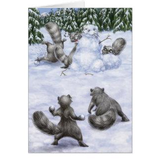 A West Coast Christmas: Raccoons Card