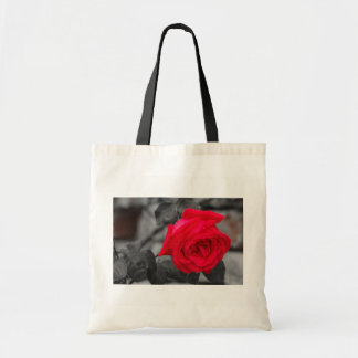 A wet rose after the rain  on budget tote