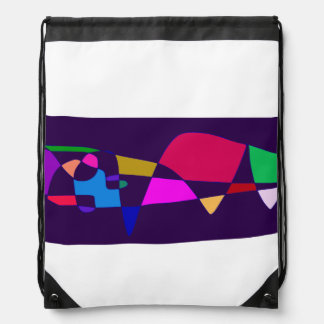 A Whale in the Deep Sea Drawstring Bag