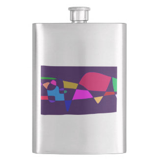 A Whale in the Deep Sea Hip Flask