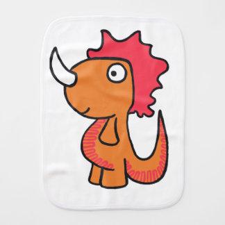 A whimsical dinosaur friend, cute and adorable. burp cloth