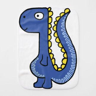 A whimsical dinosaur friend, cute and adorable burp cloth