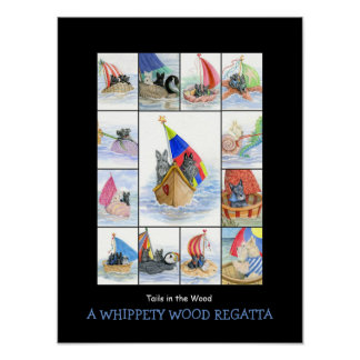 A WHIPPETY WOOD REGATTA 1 POSTER