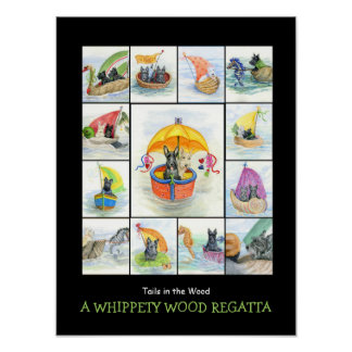 A WHIPPETY WOOD REGATTA 2 POSTER