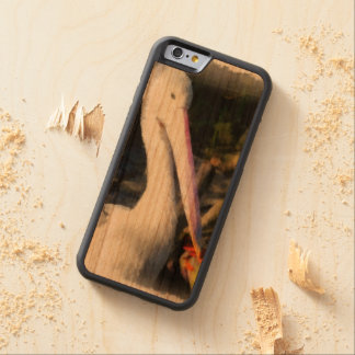 A white bird and its big beak carved cherry iPhone 6 bumper case