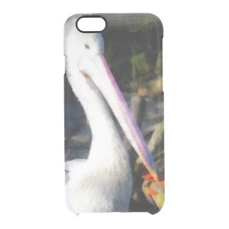 A white bird and its big beak clear iPhone 6/6S case