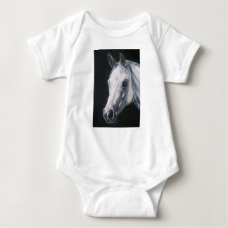 A White Horse Baby Bodysuit