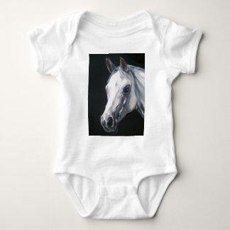 A White Horse Baby Bodysuit