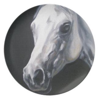 A White Horse Dinner Plate
