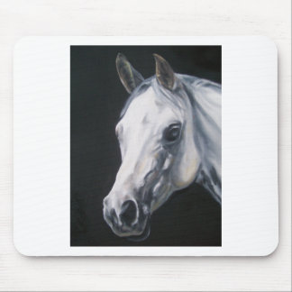 A White Horse Mouse Pad