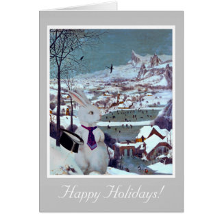 A White Rabbit Christmas - Vintage Art Card