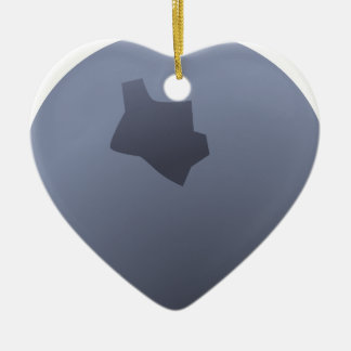 A Whole Blueberry Ceramic Heart Ornament
