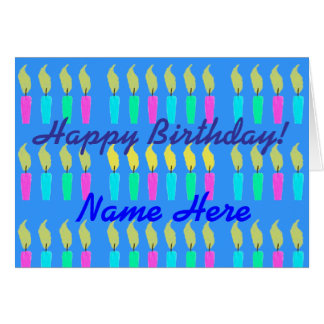 A Whole Lot Of Candles Custom Happy Birthday Card
