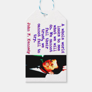 A Whole World Looks - John Kennedy Pack Of Gift Tags