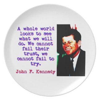 A Whole World Looks - John Kennedy Plate