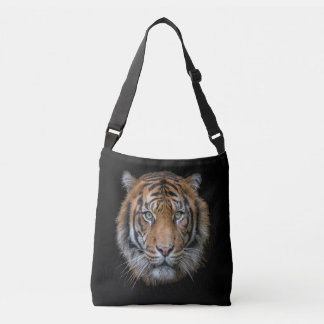 A wild Bengal Tiger face Crossbody Bag