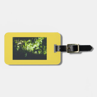 A wild flower in the green nature luggage tag