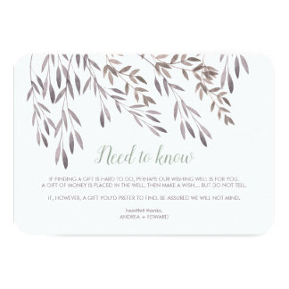 A Wildflower Wedding Extra Enclosure Card