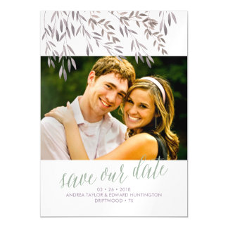 A Wildflower Wedding Save the Date Magnetic Card