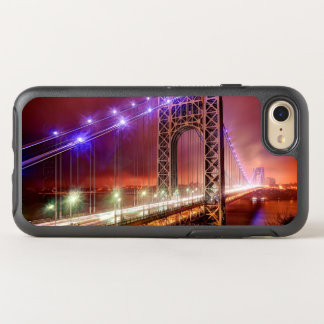 A windy and rainy evening view from Fort Lee OtterBox Symmetry iPhone 7 Case