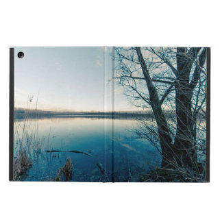 A winter lake iPad air cover