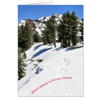 A winter scene for Christmas in KLINGON 3 Card