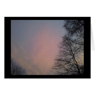 A winter sunset card