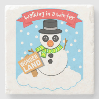 A Winter Wonderland II Stone Coaster