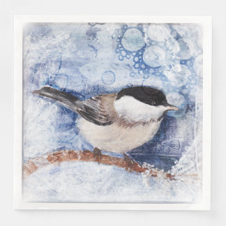 A winter's day paper dinner napkin