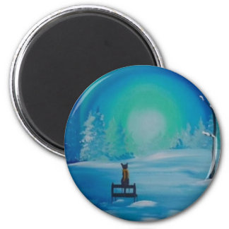 A Winters Meow 2 Inch Round Magnet