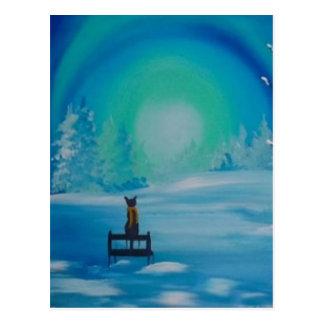 A Winters Meow Postcard