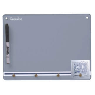 A Winter's Snow Dry Erase Board With Keychain Holder