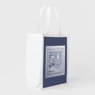 A Winter's Snow Reusable Grocery Bag