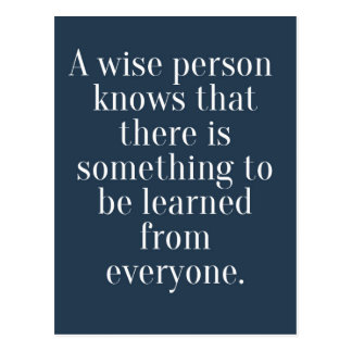 A Wise Person Quote Postcard