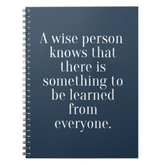 A Wise Person Quote Spiral Notebook