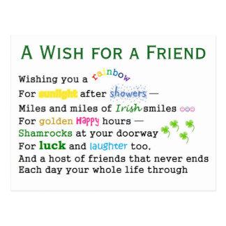 A Wish for a Friend Postcard