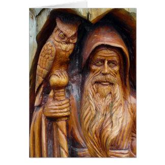 A Wizard and Owl Emerge From Cavern Card