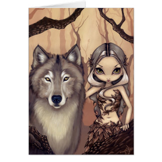"""A Wolfish Friend"" Greeting Card"