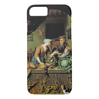 A Woman and a Fish Peddler, 1713 (oil on panel) iPhone 7 Case