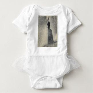 A Woman Fishing (conte crayon) Baby Bodysuit