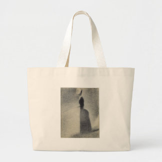 A Woman Fishing (conte crayon) Large Tote Bag