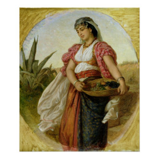 A Woman from Algiers, 1871 Poster