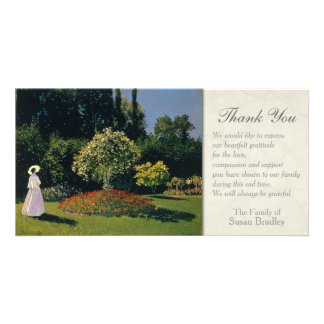 A Woman in the Garden Sympathy Thank You Card
