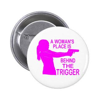 A WOMAN S PLACE PINBACK BUTTON