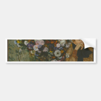 A Woman Seated beside a Vase of Flowers Bumper Sticker