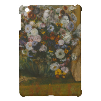 A Woman Seated beside a Vase of Flowers Case For The iPad Mini