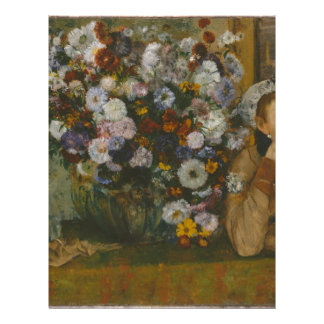 A Woman Seated beside a Vase of Flowers Letterhead